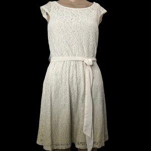 Lauren Conrad color transition cream lacy dress